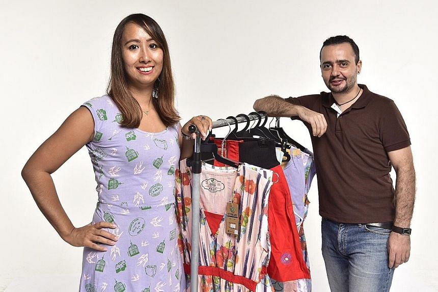 Etrican, whose clothes are made from organic cotton, was founded by Mr Dragos Necula and Ms Yumiko Uno.