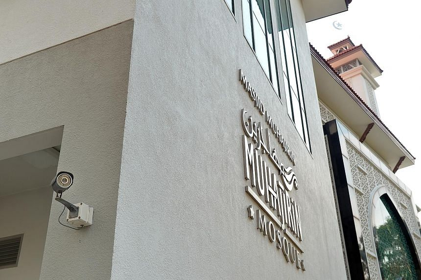 Places of worship, like St Joseph's Church (above) in Victoria Street and Masjid Muhajirin (left) in Braddell Road, have security cameras installed.