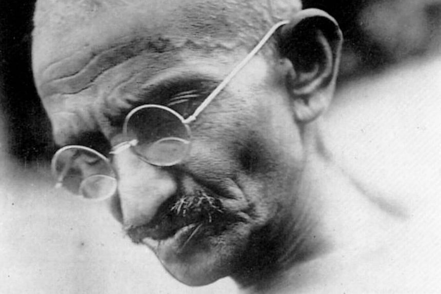 An old photo of Mahatma Gandhi.