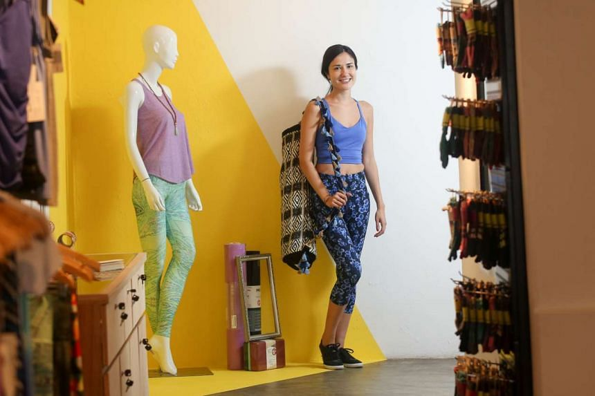 Ms Eliza Inoue is one of three founders of home-grown multi-label store Touch The Toes, which stocks yoga attire sourced from sustainable brands.