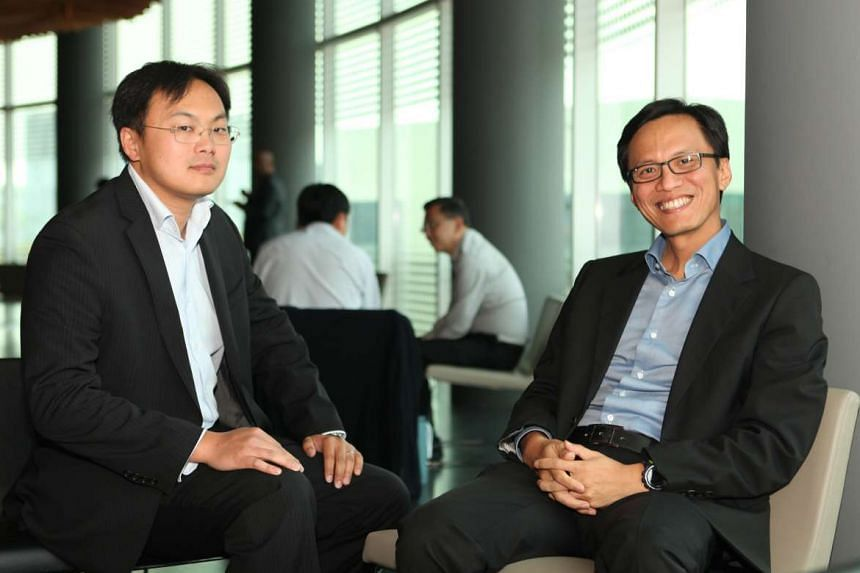 Mr Tony Chao (left), senior investment director of Applied Ventures, and Mr Russell Tham, corporate vice-president and regional president (South-east Asia) of Applied Materials. Applied Ventures, the venture capital arm of American multinational Appl