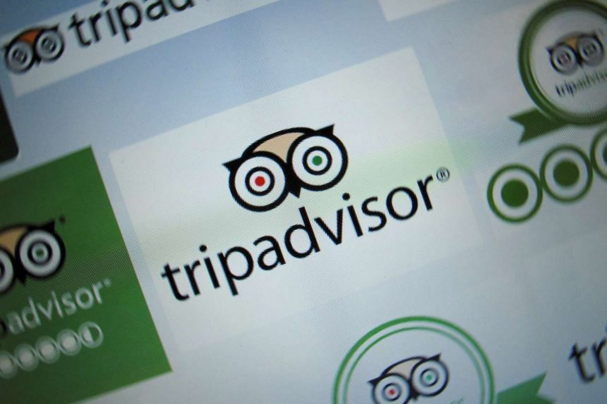 The logo for a travel website company TripAdvisor Inc. is shown on a computer screen in this illustration photo in Encinitas, California.
