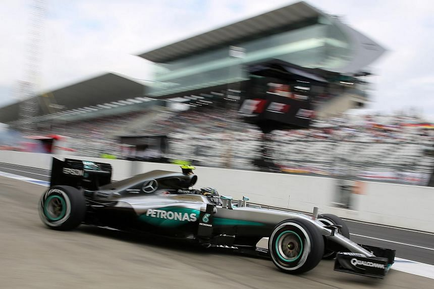 Mercedes AMG Petronas F1 Team's German driver Nico Rosberg topped the timesheets in both practice sessions on Oct 7, 2016, for this weekend's Formula One Japanese Grand Prix.