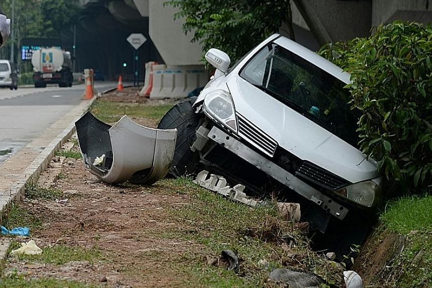 A pedestrian, understood to be a foreign worker, was killed when he was hit by a car in Keppel Road yesterday. The accident happened about 10.15am near the Tanjong Pagar Railway Station. The 35-year-old man was pronounced dead at the scene, said poli