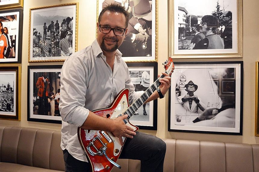 Mr Mathieu Jaton, chief executive of the Montreux Jazz Festival, at the club and cafe.