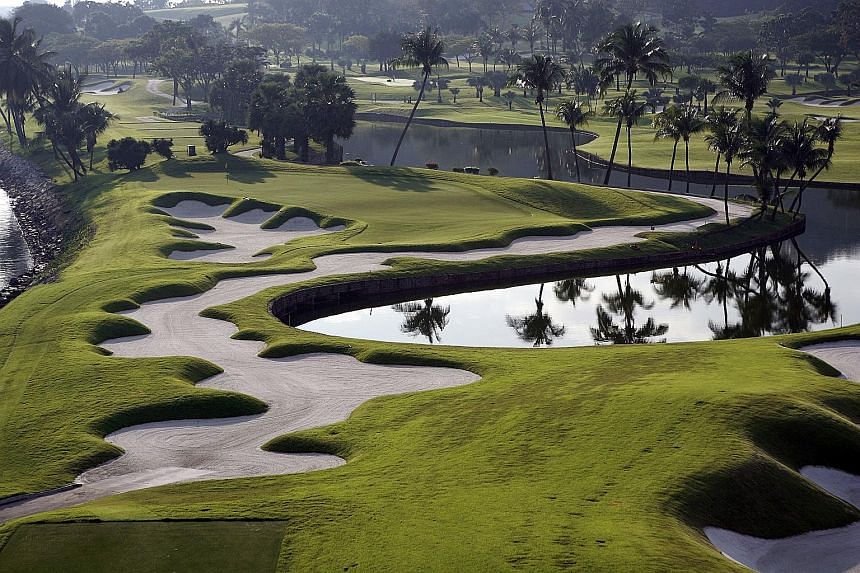 Serapong (left) is No. 58 in Golf Digest's World's 100 Greatest Golf Courses. The New Tanjong, meanwhile, will be ready next month after a $32 million renovation. It will host the next two editions of the Women's Champions and now the 2018 AAC as wel