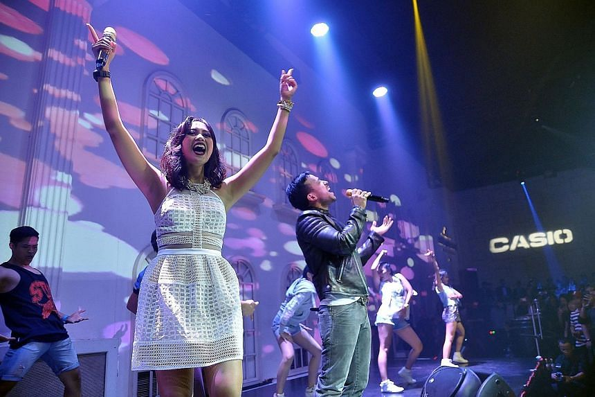 Performers at a media event for Casio in Empirica, a nightlife and events venue in Jakarta, in August. More than 1,000 people attended the event.