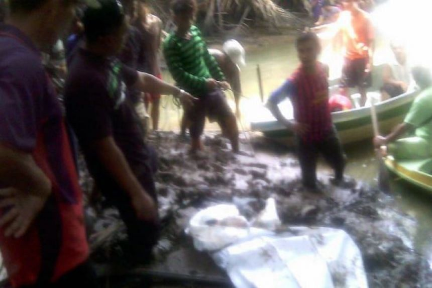 The victim's remains were found by villagers.