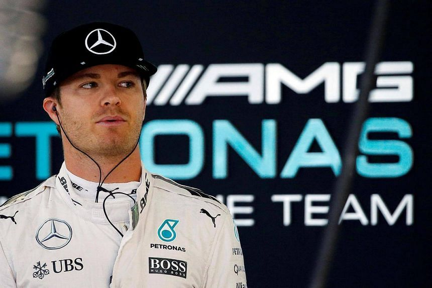Mercedes' driver Nico Rosberg of Germany in action during first practice at the Japanese Grand Prix.