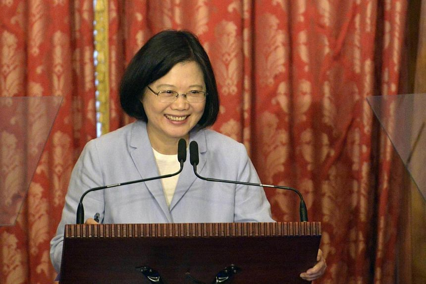 Taiwan's President Tsai Ing-wen speaking during a press conference at the Taipei Guest House on Aug 20, 2016.