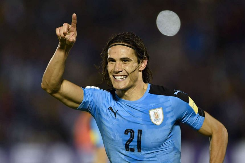 Uruguay's Edinson Cavani celebrates after scoring against Venezuela during their Russia 2018 World Cup football qualifier match in Montevideo, on Oct 6, 2016.