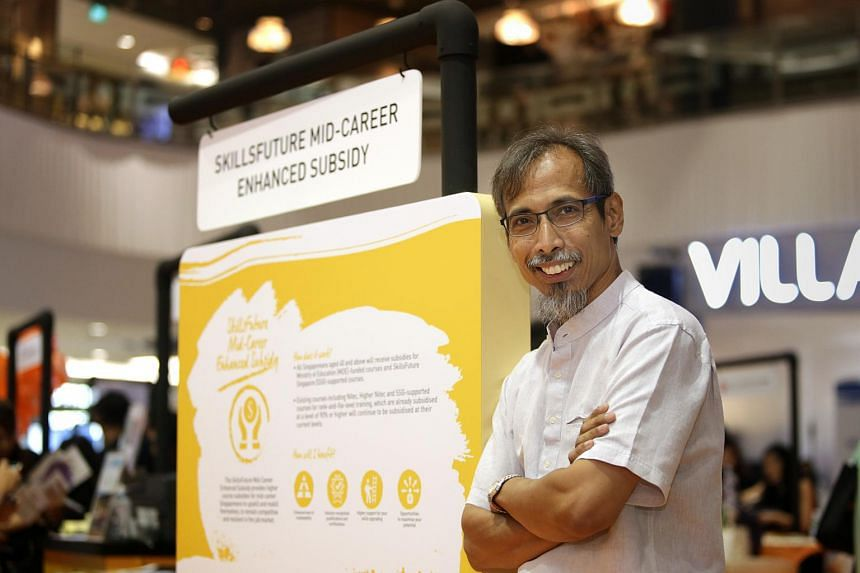 Mr Zulkifli Baba, 48, is one of 52,000 Singaporeans who have tapped on the SkillsFuture Mid-Career Enhanced Subsidy to upgrade their skills at a lower cost.