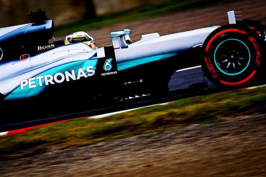 British Formula One driver Lewis Hamilton of Mercedes AMG GP in action during the second practice session for the Japanese Formula One Grand Prix which will be held on Oct 9, 2016.