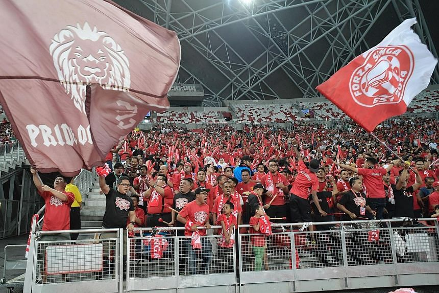About 25,000 fans cheered the Lions on throughout the 0-0 draw against Malaysia in the Causeway Challenge.