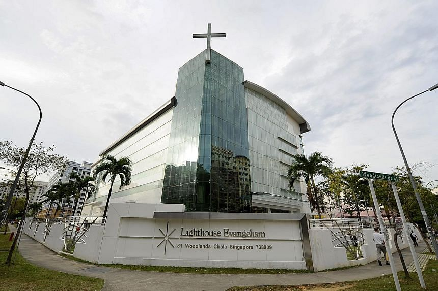 A CCTV camera was installed at Lighthouse Evangelism in Woodlands to monitor the sign outside the church, after it had been set ablaze a few times. On May 13, Teo, who has delusional disorder, was caught on camera setting fire to the sign.
