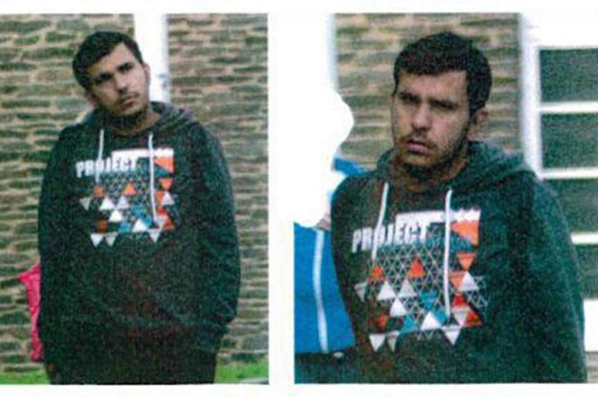 Wanted Syrian suspect Jaber Albakr, 22, is seen in photos released by the police.