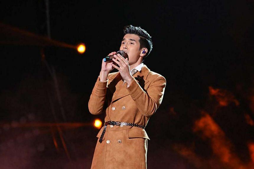 Nathan Hartono performing at the Sing! China event on Oct 7, 2016.