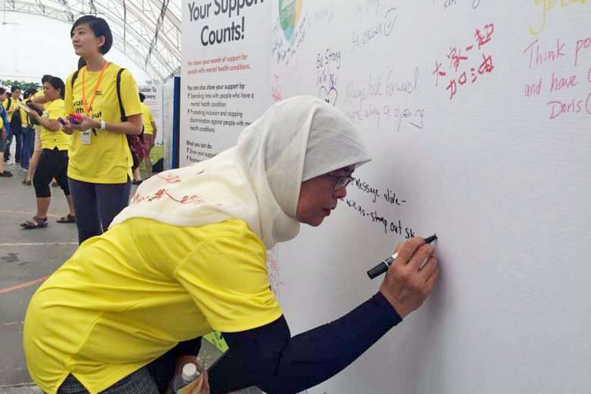 """Madam Halimah was joined by more than 1,200 participants at the """"Walk with Us, Stamp out Stigma"""" event."""