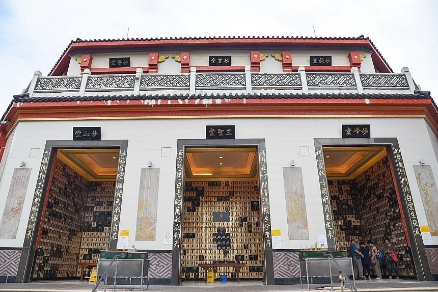 The dire shortage of urn spaces, or niches, in Hong Kong has led to a proliferation of private columbaria and a hot resale market. At Po Fook Hill (above), niches are sought after and could possibly cost more than $88,500.