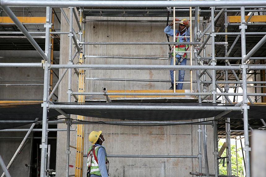 Workers at a construction site. Workplace accidents have claimed 55 lives so far this year.