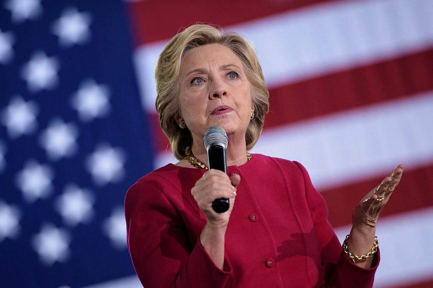 Democratic presidential nominee Hillary Clinton speaks during a town hall meeting on Oct 4, 2016.