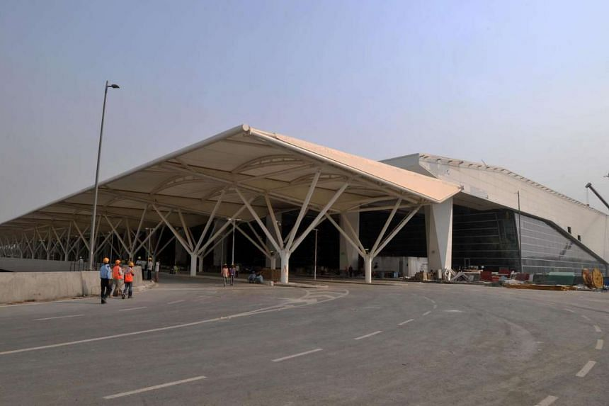 New Delhi's Indira Gandhi International Airport Terminal 3 (seen in a file picture) was cordoned off after a suspected radioactive leak.