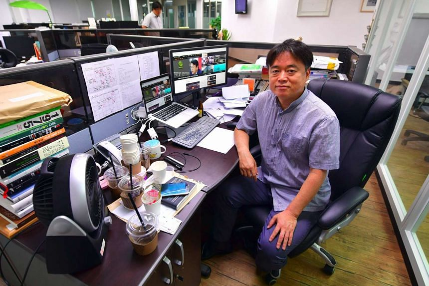 South Korean investigative journalist and documentary filmmaker Choi Seung Ho at his office in Seoul.