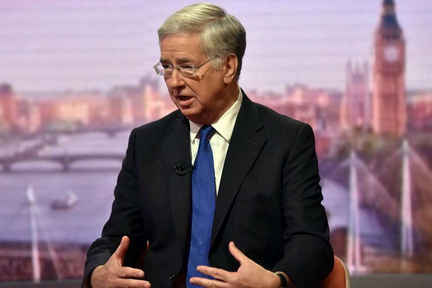 Britain's Defence Secretary Michael Fallon is seen speaking on the BBC's Andrew Marr Show in this photograph received via the BBC in London, Britain on Oct 9, 2016.