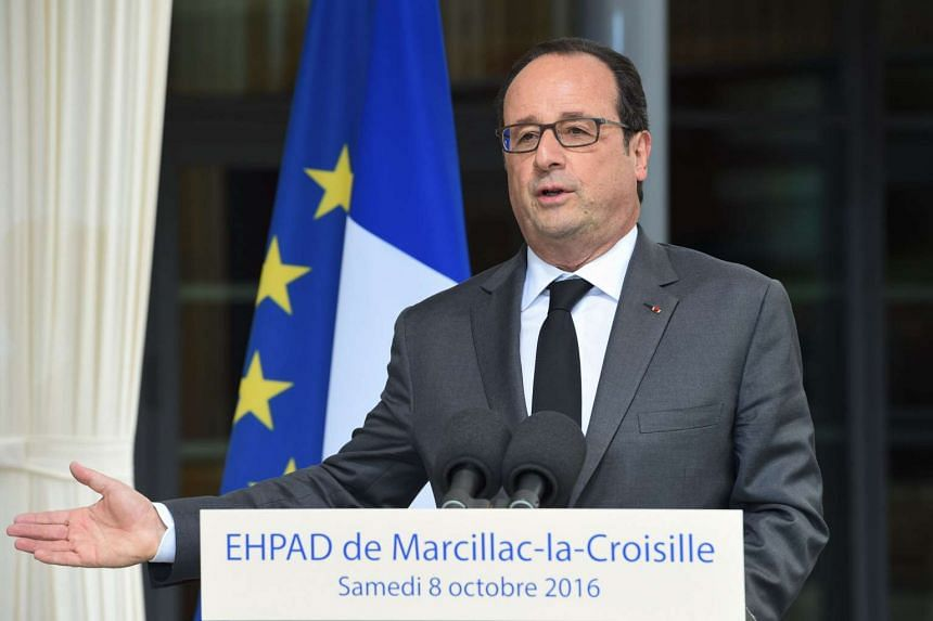 French President Francois Hollande said he is still deliberating whether a meeting with Russia President Vladimir Putin would be useful.