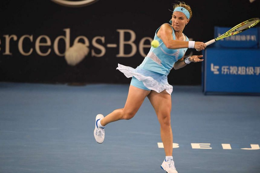 Svetlana Kuznetsova (above) beat France's Pauline Parmentier 6-1, 6-3 during their opening match at the WTA Tianjin Open on Monday (Oct 10).