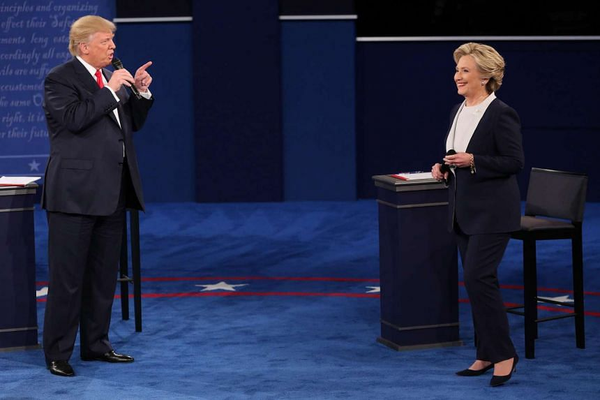 Fireworks between the Republican and Democratic nominees at the second presidential debate in St. Louis.