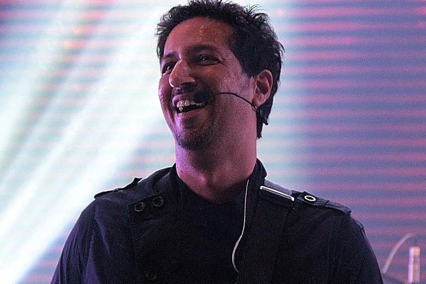 Salim Merchant takes on keyboard and vocal duties, while his brother Sulaiman (above) helms percussion and drum programming.