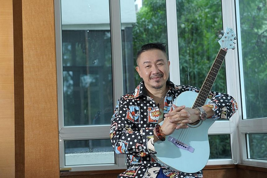 The only instrument that Mark Chan can now play after sustaining injuries in an accident is a junior-sized blue guitar.