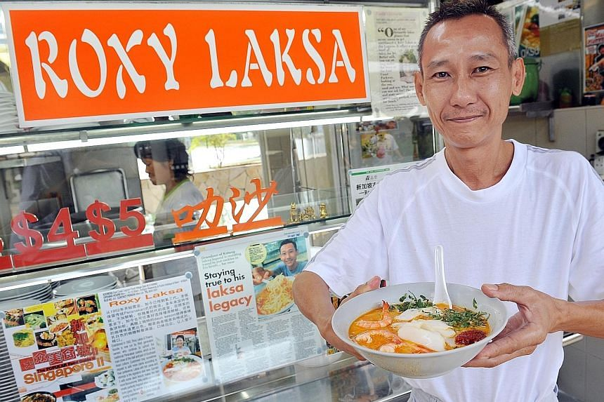Roxy Laksa's Mr Lim Swee Heng was one of the winners of the Singapore Hawker Masters awards in 2011.