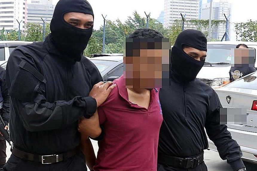 The suspects were nabbed from six states including Kelantan (far left) and Selangor (left). The latest arrests bring to more than 250 the number of people detained by Malaysian police since late 2013 for suspected ties to ISIS.