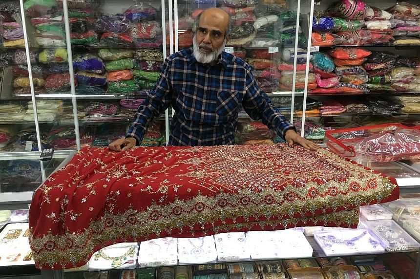 Mr Syed offers saris in various styles, colours and sizes in his shop in Dandenong, about 35km from the centre of Melbourne.