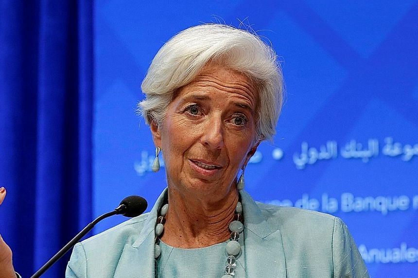 IMF chief Christine Lagarde has urged nations to do more to boost growth.