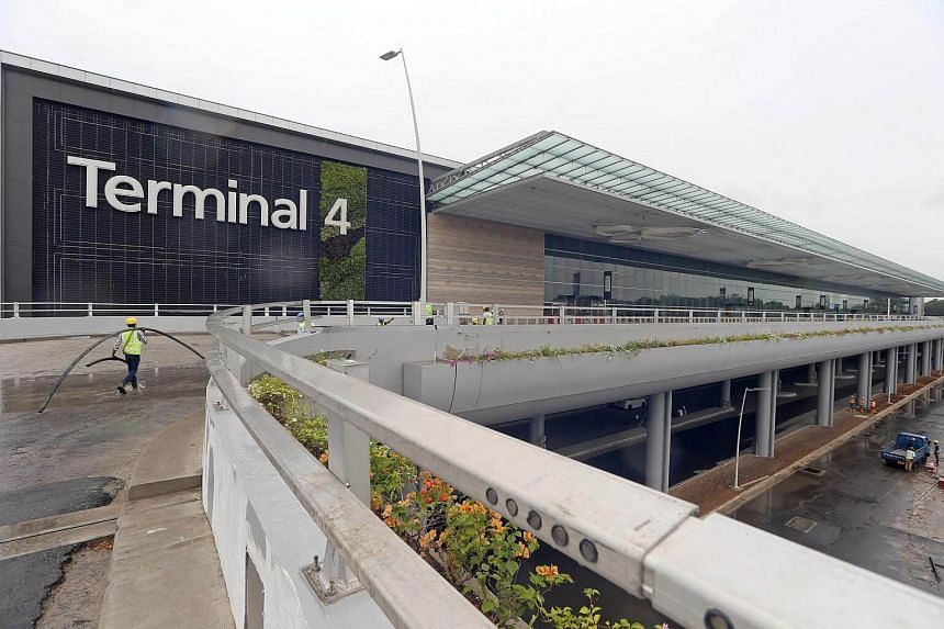 The exterior of Changi Airport Terminal 4, which will be opened in 2017.