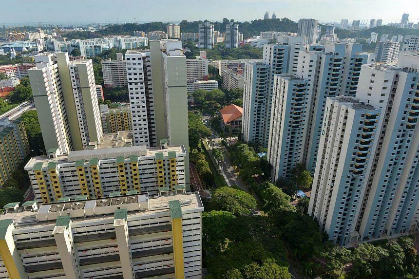 Housing flats at Tiong Bahru estate.