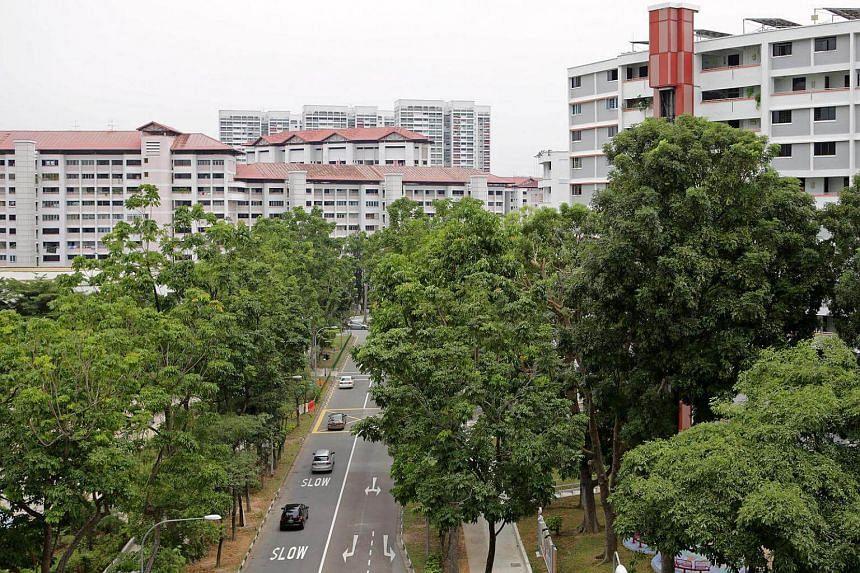 HDB buildings in Jurong East.