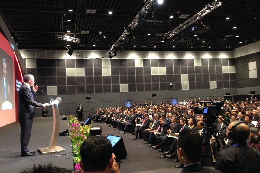PM Lee Hsien Loong speaking at the opening of the inaugural Singapore International Cyber Week and the 25th GovernmentWare Conference at Suntec Singapore.