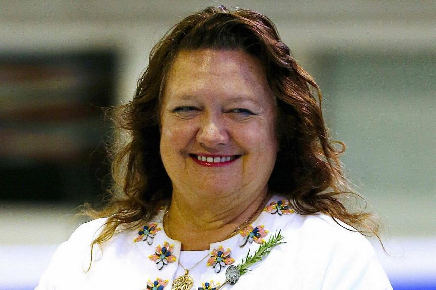 Australian mining heiress and chairman of Hancock Prospecting group Gina Rinehart.