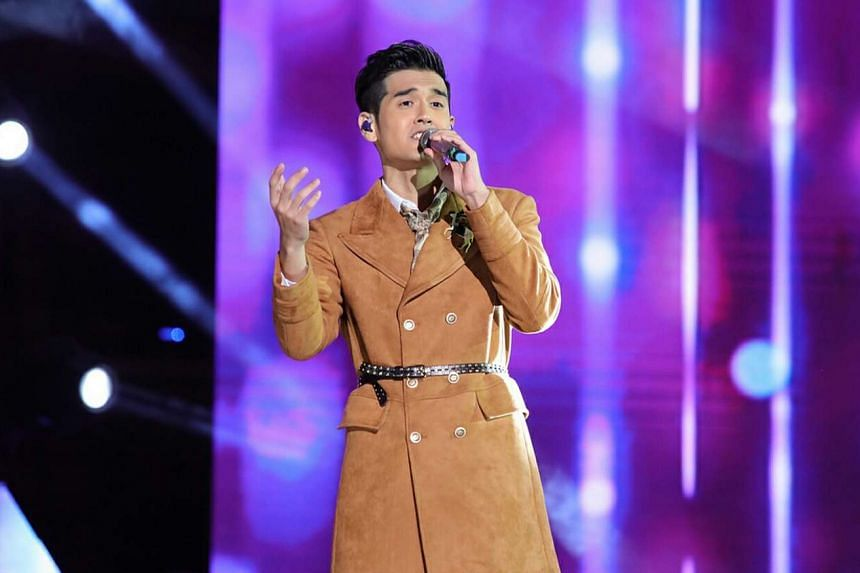 Nathan Hartono gave a polished performance last Friday at the Sing! China final in Beijing's National Stadium.
