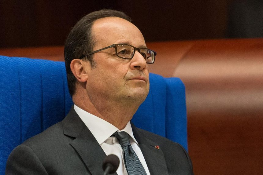 French President Francois Hollande in the Council of Europe in Strasbourg, France, on Oct 11, 2016.