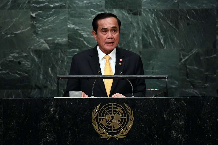 Thailand Prime Minister Prayut Chan-O-Cha at the United Nations General Assembly in New York on Sept 21, 2016.