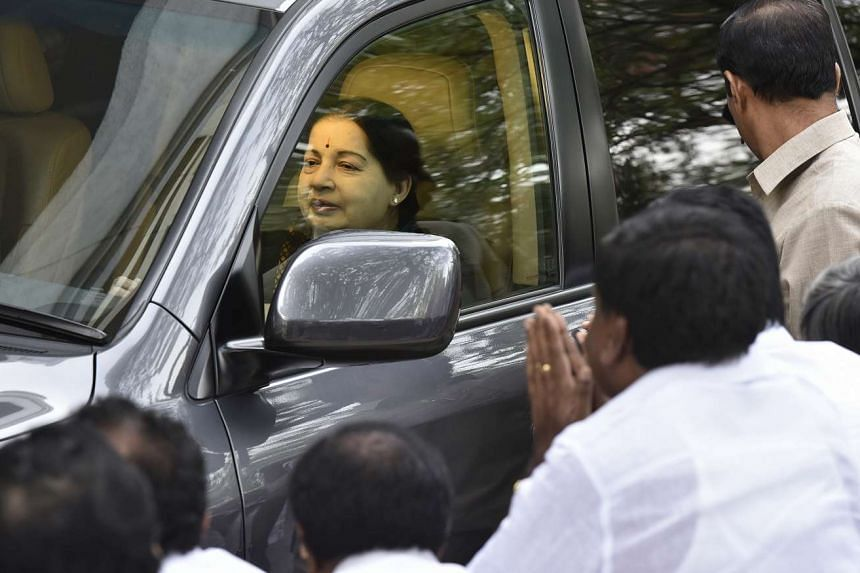 Police have arrested two people who have been accused of posting false news on social media websites about the condition of Ms J Jayalalithaa, the chief minister of Tamil Nadu state. PHOTO: HINDUSTAN TIMES