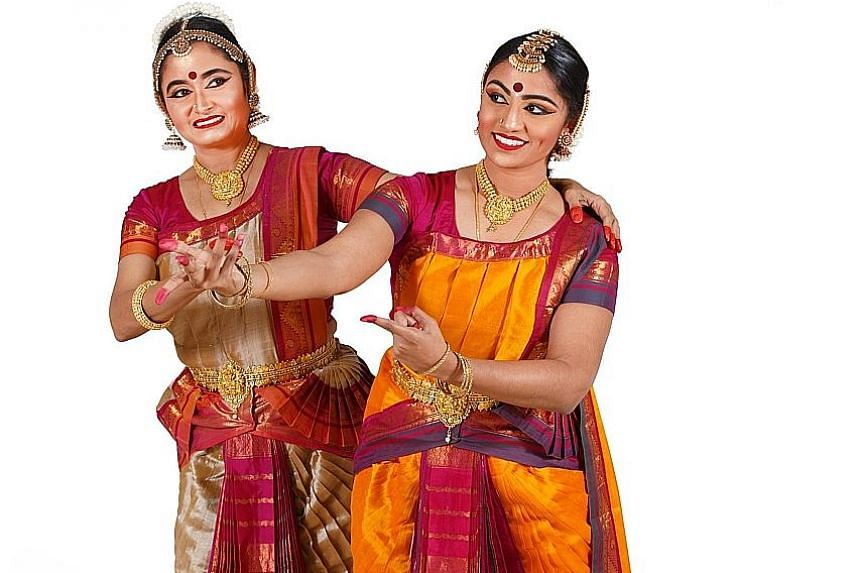 Dancers Lalitha Venketa- subramanian (far left) and Devapriya Appan play a mother and daughter in Finding Dignity.