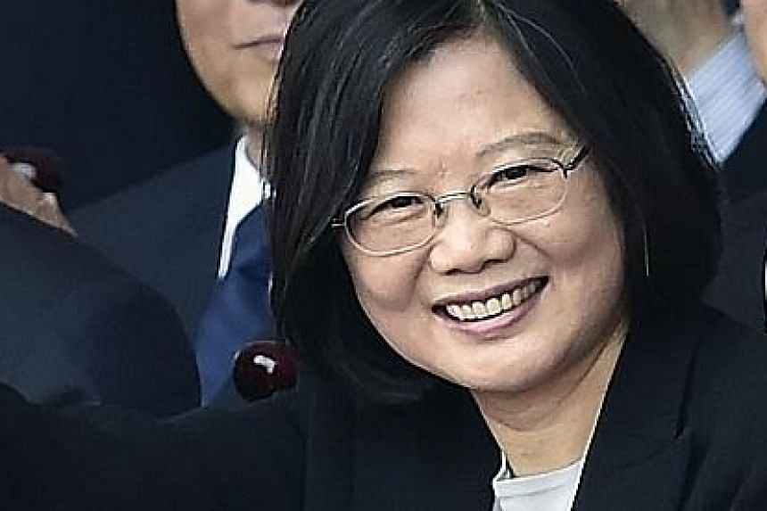 Taiwan leader Tsai Ing-wen pledged to maintain stable and peaceful relations with Beijing.