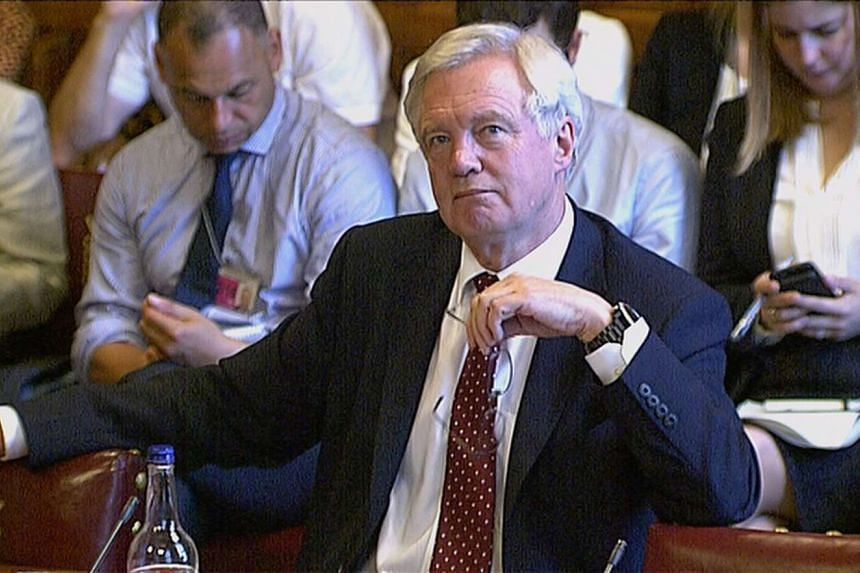Brexit minister David Davis told parliament that the UK has negotiating leverage on financial passporting.