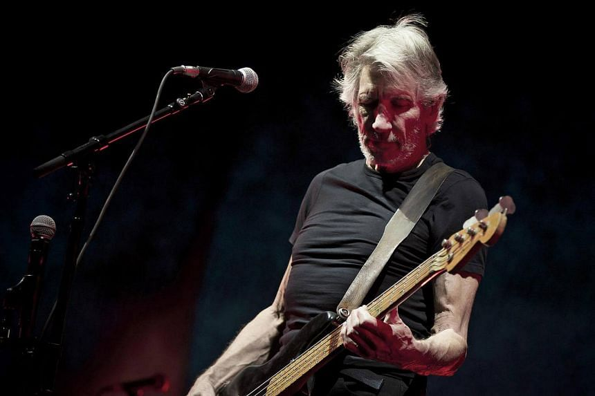 Roger Waters, famously of Pink Floyd, at Desert Trip, a rock music festival over two weekends at the Coachella site in Indio, California.